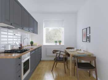 Пример отделки кухни